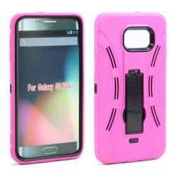 Samsung Galaxy S6 Edge Plus Armor Hybrid Stand Case (Hot Pink)