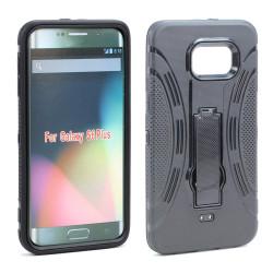 Samsung Galaxy S6 Edge Plus Armor Hybrid Stand Case (Black)