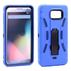 Samsung Galaxy S6 Edge Plus Armor Hybrid Stand Case (Blue)