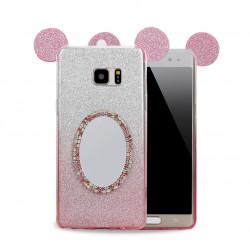 Galaxy Note FE / Note Fan Edition / Note 7 Minnie Diamond Star Mirror Case (Hot Pink)