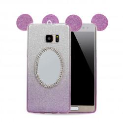 Galaxy Note FE / Note Fan Edition / Note 7 Minnie Diamond Star Mirror Case (Purple)