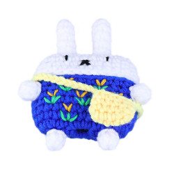 Airpod Pro Cute Design Cartoon Handcraft Wool Fabric Cover Skin (Bunny Navy Blue)