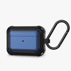 Heavy Duty Shockproof Armor Hybrid Protective Case Cover for [Apple Airpods Pro] (Blue)