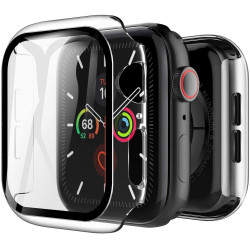 Apple Watch Series 6 / SE / 5 / 4 Hard Full Body Case with Tempered Glass 44MM (Clear)