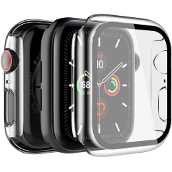 Apple Watch Series 6 / SE / 5 / 4 Hard Full Body Case with Tempered Glass 40MM (Clear)