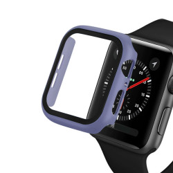 Apple Watch Series 6 / SE / 5 / 4 Hard Full Body Case with Tempered Glass 40MM (Light Purple)