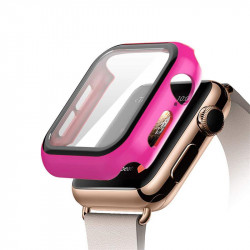 Apple Watch Series 6 / SE / 5 / 4 Hard Full Body Case with Tempered Glass 40MM (Hot Pink)