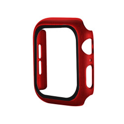 Apple Watch Series 6 / SE / 5 / 4 Hard Full Body Case with Tempered Glass 40MM (Matte Red)