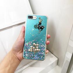 iPhone SE 2020 / 8 / 7 3D Deer Crystal Diamond Shiny Case (Blue)