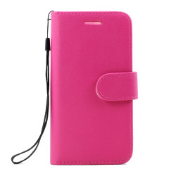 Galaxy Note FE / Note Fan Edition / Note 7 Folio Flip Leather Wallet Case with Strap (Hot Pink)