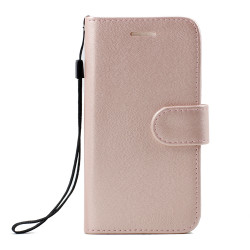 Galaxy Note FE / Note Fan Edition / Note 7 Folio Flip Leather Wallet Case with Strap (Rose Gold)