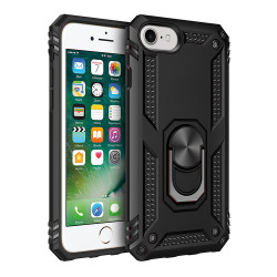 iPhone SE2020 / 8 / 7 Tech Armor Ring Grip Case with Metal Plate (Black)