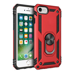 iPhone SE2020 / 8 / 7 Tech Armor Ring Grip Case with Metal Plate (Red)