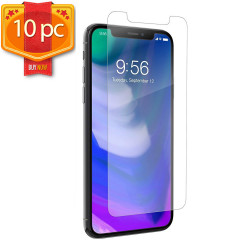 iPhone 11 Pro Max (6.5in) / XS Max Tempered Clear Glass Screen Protector 10pc (Clear)