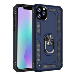 iPhone 11 (6.1in) Tech Armor Ring Grip Case with Metal Plate (Navy Blue)