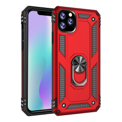 iPhone 11 (6.1in) Tech Armor Ring Grip Case with Metal Plate (Red)