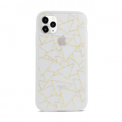 Slim Matte Design Hybrid Case for iPhone 11 6.1 (Gold Abstract)