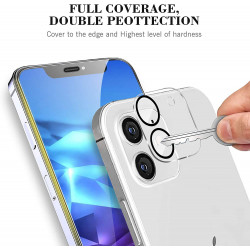 Camera Lens HD Tempered Glass Protector for iPhone 12 [6.1] Only (Transparent Clear)
