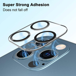 Camera Lens HD Tempered Glass Protector for iPhone 12 Pro Only [6.1] (Transparent Clear)