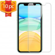 10pc Transparent Tempered Glass Screen Protector for iPhone 12 / iPhone 12 Pro 6.1 inch (Clear)