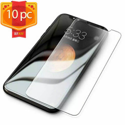 10pc Transparent Tempered Glass Screen Protector for iPhone 12 Mini 5.4 inch (Clear)