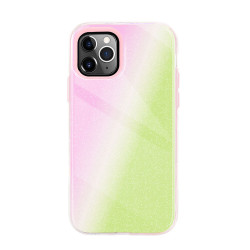 Dual Layer High Impact Protective Hybrid Hard Design Case for iPhone 12 Mini 5.4 (Pink Green)