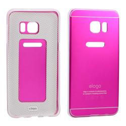 Samsung Galaxy S6 Edge Plus Slim Aluminum Hybrid Case (Hot Pink)