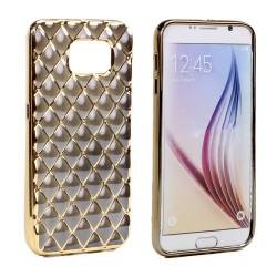 Samsung Galaxy S6 Edge Exotic Electroplate Soft Hybrid Case (Black)
