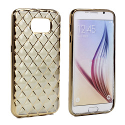 Samsung Galaxy S6 Edge Plus Exotic Electroplate Soft Hybrid Case (Champagne Gold)