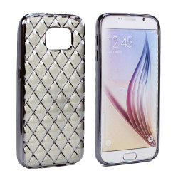 Samsung Galaxy S6 Edge Plus Exotic Electroplate Soft Hybrid Case (Space Gray)