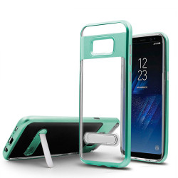 Samsung Galaxy S8 Plus Clear Armor Bumper Kickstand Case (Green)