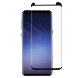 Galaxy S9+ (Plus) / S8+ (Plus) Tempered Glass Full Screen Protector Case Friendly (Glass Black)