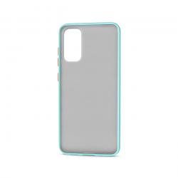 Samsung Galaxy S20 (6.2in) Slim Matte Hybrid Bumper Case (White Light Blue)