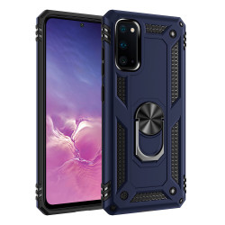 Samsung Galaxy S20+ Plus (6.7in) Tech Armor Ring Grip Case with Metal Plate (Navy Blue)