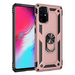 Samsung Galaxy S20+ Plus (6.7in) Tech Armor Ring Grip Case with Metal Plate (Rose Gold)