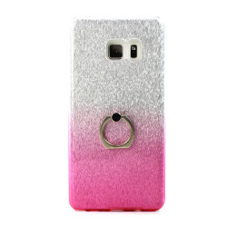 Galaxy Note FE / Note Fan Edition / Note 7 Shiny Armor Ring Stand Hybrid Case (Pink)