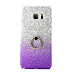Galaxy Note FE / Note Fan Edition / Note 7 Shiny Armor Ring Stand Hybrid Case (Purple)