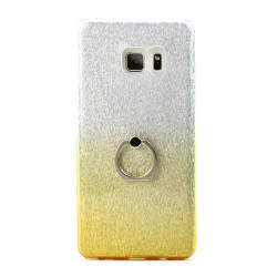 Galaxy Note FE / Note Fan Edition / Note 7 Shiny Armor Ring Stand Hybrid Case (Yellow)