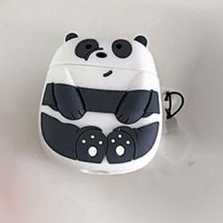 Cute Design Cartoon Silicone Cover Skin for Airpod (1 / 2) Charging Case (Big Panda)