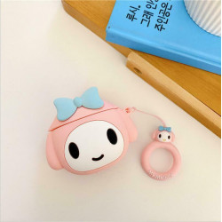Cute Design Cartoon Silicone Cover Skin for Airpod (1 / 2) Charging Case (Pink Doggy)