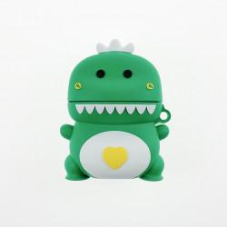 Airpod Pro Cute Design Cartoon Silicone Cover Skin for Airpod Pro Charging Case (Green Dinosaur)