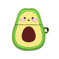 Cute Design Cartoon Silicone Cover Skin for Airpod (1 / 2) Charging Case (Fruit Avocado)
