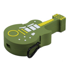 Cute Design Cartoon Silicone Cover Skin for Airpod (1 / 2) Charging Case (Guitar Green)