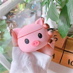 Cute Design Cartoon Silicone Cover Skin for Airpod (1 / 2) Charging Case (Pig)