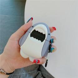 Cute Design Cartoon Silicone Cover Skin for Airpod (1 / 2) Charging Case (Shark)