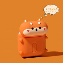 Cute Design Cartoon Silicone Cover Skin for Airpod (1 / 2) Charging Case (Shiba Inu Dog)