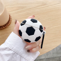 Cute Design Cartoon Silicone Cover Skin for Airpod (1 / 2) Charging Case (Soccer Ball)