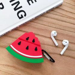 Cute Design Cartoon Silicone Cover Skin for Airpod (1 / 2) Charging Case (Watermelon)