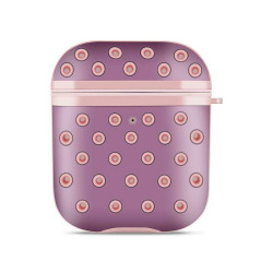 Airpod (2 / 1) Honeycomb Mesh Sports Cover Skin for Airpod Charging Case (Purple Pink)