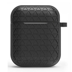 Net Mesh Design Hybrid Protective Case Cover for Apple Airpods 2 / 1 (Black)
